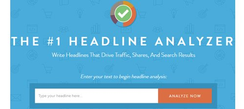 CoSchedule Headline Analyzer - İçerik Pazarlaması için Faydalı Araçlar