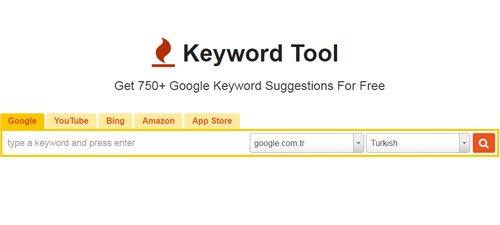 keyword tool - İçerik Pazarlaması için Faydalı Araçlar