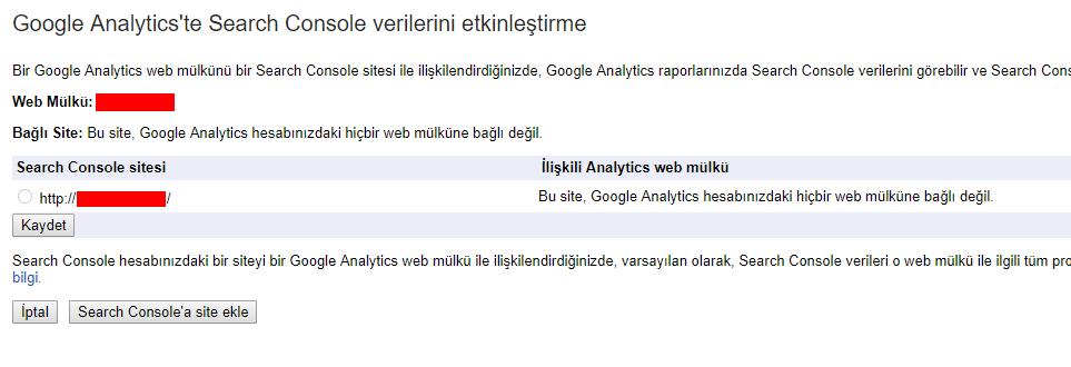google analiytics search console 3 - Google Analytics Kullanım Rehberi - Edinmeye Genel Bakış