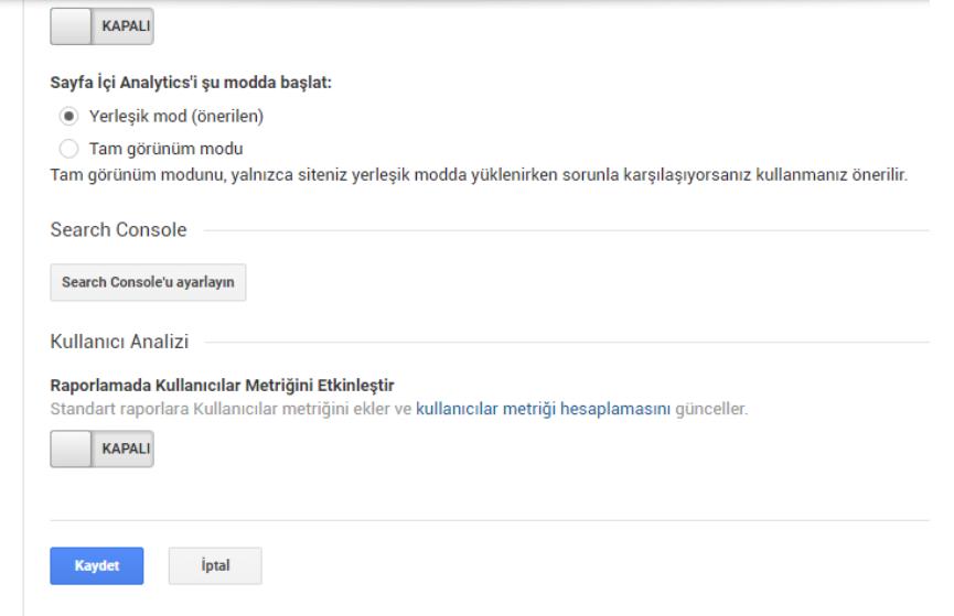 google analiytics search console2 - Google Analytics Kullanım Rehberi - Edinmeye Genel Bakış