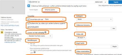 Youtube-Video-Yükleme-Gelişmiş-Ayarlar